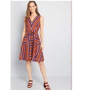 ModCloth Retro Blend Midi Dress Size Small